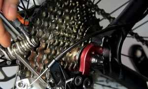 Установка заднего переключателя на велосипед и его замена