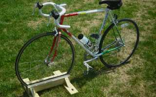 Подставка для велосипеда своими руками: самодельная стойка для ремонта