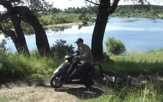 Платформа для перевозки скутера
