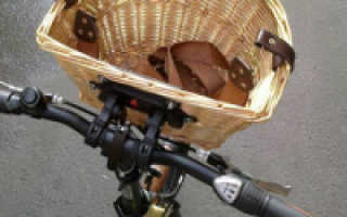Корзина для велосипеда на руль и багажник (съемные и другие модели)