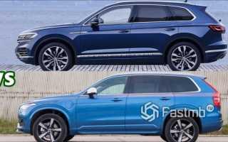 Лучше туарег или вольво хс90. Что лучше: VW Touareg или Volvo XC90? Внутреннее оформление VW Touareg против Volvo XC90