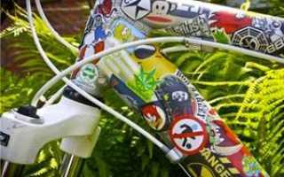 Наклейки на велосипед на раму: защитные, светоотражающие, на колеса, своими руками