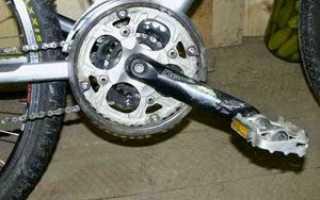 Что делать, если на велосипеде постоянно откручивается педаль