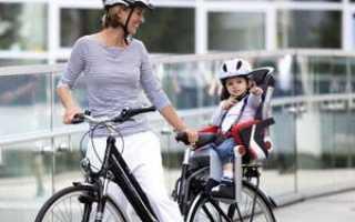 Сиденье на велосипед для ребенка: кресло (сидушка) на раму, багажник