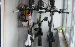 Можно ли хранить велосипед на балконе зимой: как закрепить, подготовить, использовать чехол
