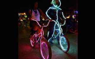 Подсветка велосипеда (колес и рамы), светодиодная и неоновая