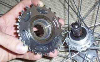 Как снять трещотку с велосипеда, разобрать и заменить её