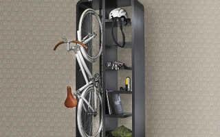 Хранение велосипеда в маленькой квартире: где лучше хранить