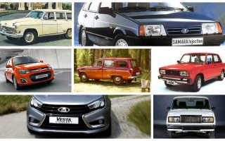 Все марки машин от а до я. Российские марки автомобилей