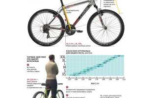 Как выбрать размер рамы велосипеда и правильно измерить ее?