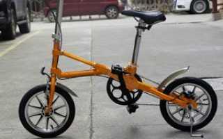 Складной взрослый велосипед: лёгкий байк с маленькими колесами