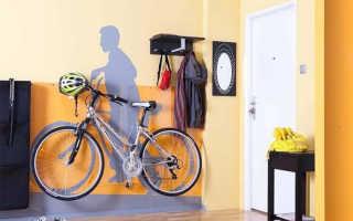 Настенный держатель для велосипеда: крюки и другие способы хранения