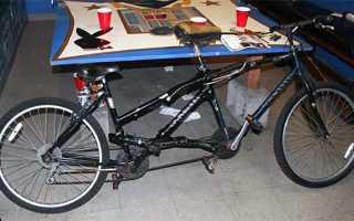Двухместный велосипед (тандем) и как его сделать своими руками
