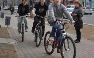 Можно ли ездить на велосипеде по тротуарам (будет ли штраф за езду)