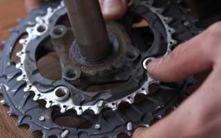 Как снять шатуны с велосипеда с использованием съемника и без него