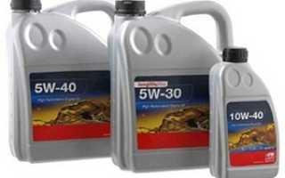 Обозначение масла 5w40 и 5w30.